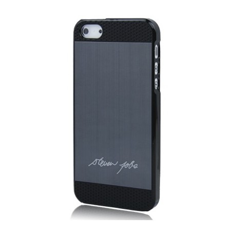 Coque Alu - iPhone 5 - Steve Jobs signature - Noir