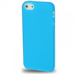 Coque souple TPU - iPhone 5 - Bleu