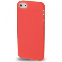 Coque souple TPU - iPhone 5 - Rouge