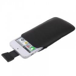 Étui cuir - iPhone 5 - Noir