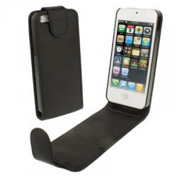 Étui cuir clapet - iPhone 5 - Noir