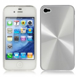 Coque Alu - iPhone 4/4S - Crystal - GRIS