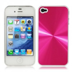 Coque Alu - iPhone 4/4S - Crystal - ROSE
