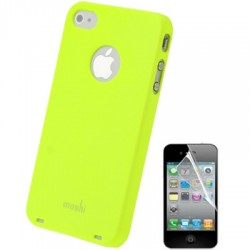 Coque Moshi - iPhone 4/4S - JAUNE + 1film OFFERT