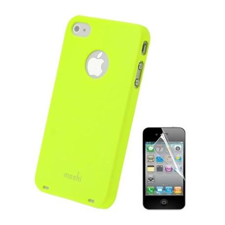 Coque Moshi - iPhone 4/4S - JAUNE 1film OFFERT