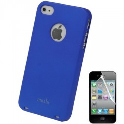 Coque Moshi - iPhone 4/4S - BLEU + 1film OFFERT