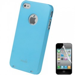 Coque Moshi - iPhone 4/4S - BLEU CIEL + 1film OFFERT