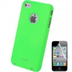 Coque Moshi - iPhone 4/4S - VERT + 1film OFFERT