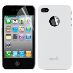 Coque Moshi - iPhone 4/4S - BLANC + 1film OFFERT