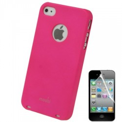 Coque Moshi - iPhone 4/4S - ROSE + 1film OFFERT