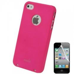 Coque Moshi - iPhone 4/4S - ROSE + 1film OFFERT