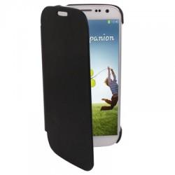 Étui cuir Flip Cover - Galaxy S4 - Noir