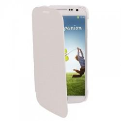 Étui cuir Flip Cover - Galaxy S4 - Blanc