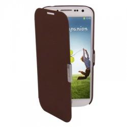 Étui cuir Flip Cover - Galaxy S4 - Brun
