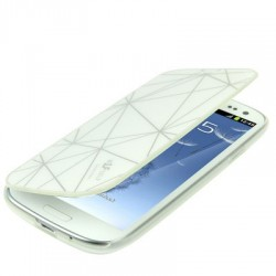 Étui Flip Plastique Cover - Galaxy S3 - Blanc
