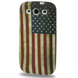 Coque souple TPU - Galaxy S3 - Retro USA