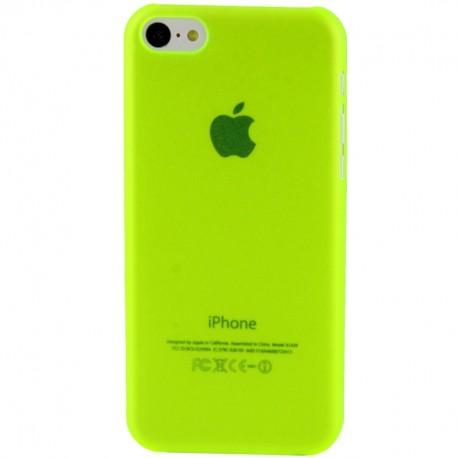 Coque Ultra Fine - iPhone 5C - Jaune Fluo