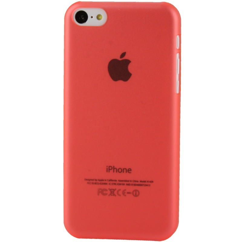 coque ultra fine iphone 5c rouge