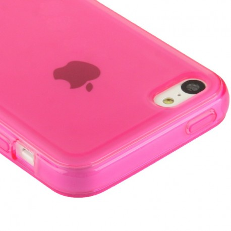 coque souple tpu iphone 5c rose