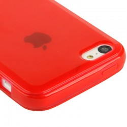 Coque souple TPU - iPhone 5C - Rouge