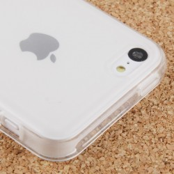 Coque souple TPU - iPhone 5C - Blanc