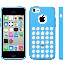 Coque Silicone - iPhone 5C - Bleu
