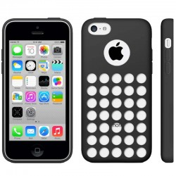 Coque Silicone - iPhone 5C - Noir