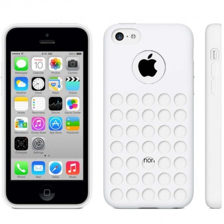 Coque Silicone - iPhone 5C - Blanc