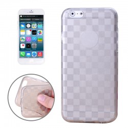 Coque souple TPU Damier - iPhone 6 - Gris
