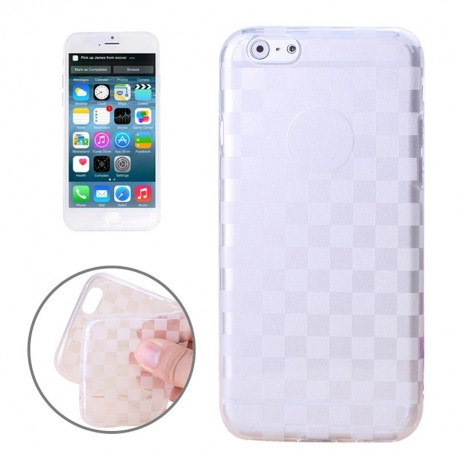 Coque souple TPU Damier - iPhone 6 - Blanc