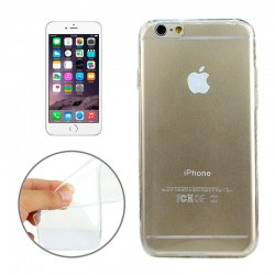 Coque souple TPU - iPhone 6+ - Blanc Transparent