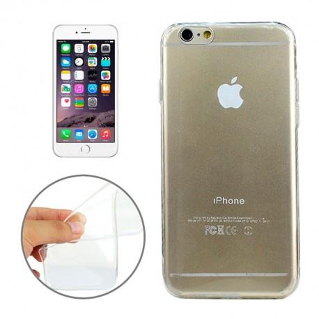 Coque souple TPU - iPhone 6+ - Blanc Transparent