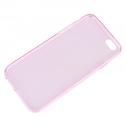 Coque souple TPU - iPhone 6+ - Rose Transparent