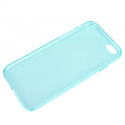 Coque souple TPU - iPhone 6+ - Turquoise Transparent