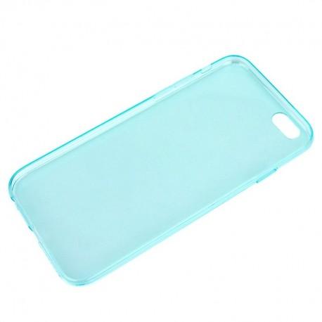 Coque souple TPU - iPhone 6+ - Turquoise Transparent