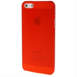 Coque Ultra Fine - iPhone 5 - Rouge Fluo